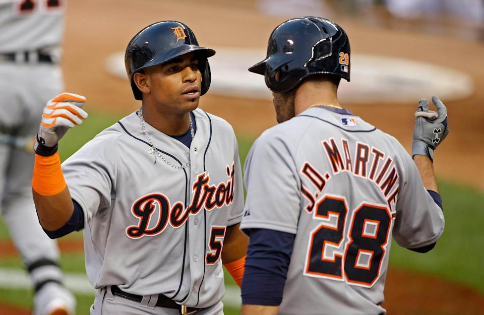 Detroit traded Yoenis Cespedes at the 2015 trade deadline and J.D. Martinez in 2017.