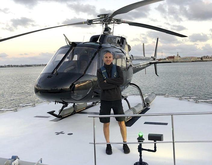 This undated photo provided by Group 3 Aviation shows pilot Ara Zobayan, who was at the controls of the helicopter that crashed on Jan. 26, 2020, killing all nine aboard including former Lakers star Kobe Bryant.