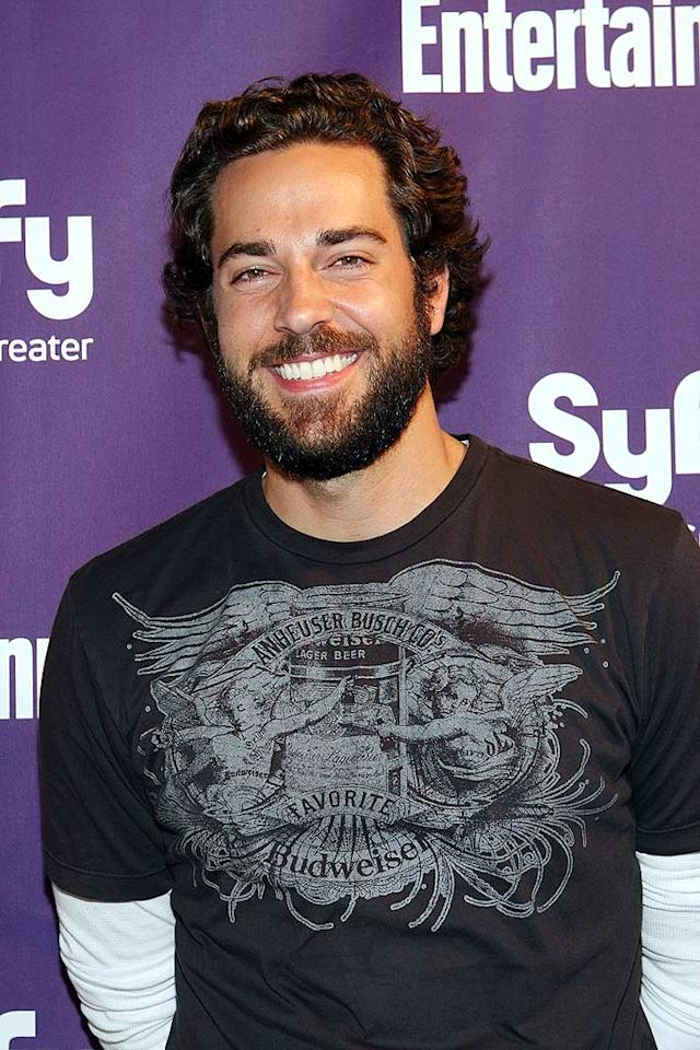 """Chuck's"" ruggedly handsome Zachary Levi was also on hand to thank supporters of his show for their undying devotion. Chelsea Lauren/<a href=""http://www.wireimage.com"" target=""new"">WireImage.com</a> - July 25, 2009"