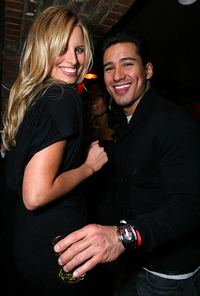 """Mario Lopez puts the moves on Karolina Kurkova at the Victoria's Secret """"What Is Sexy"""" bash at the Taste Ultra Lounge. Alexandra Wyman/<a href=""""http://www.wireimage.com"""" target=""""new"""">WireImage.com</a> - February 2, 2008"""