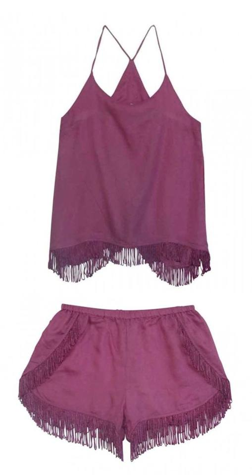 """<p>Danish lingerie brand <strong>Underprotection</strong> is known for the kind of killer accents normally reserved for daywear (fringe! cutouts!), <em>and</em> they happen to be having a major sale right now. <span></span><br></p><p>Cecilie Top, $36; Cecilie Shorts, $36; both <a rel=""""nofollow"""" href=""""http://underprotection.dk/shop/loungewear/cecilie-shorts-purple-ss16/""""><u>underprotection.dk</u></a>.</p>"""