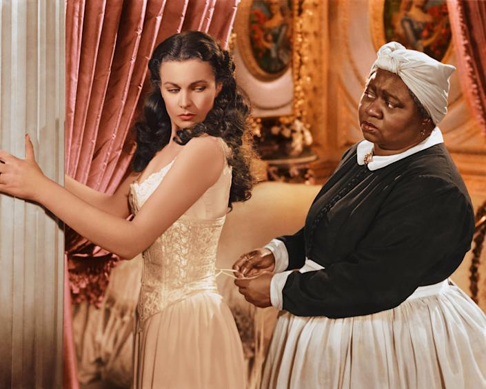 Vivien Leigh, left, with Hattie McDaniel in 1939's