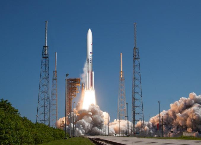 An artist's impression of a ULA Vulcan Centaur blasting off from Cape Canaveral. / Credit: ULA