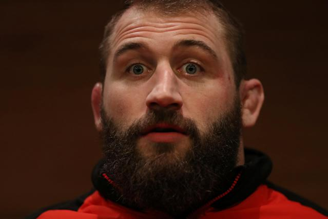 Rugby Union - England Press Conference - Royal Garden Hotel, London, Britain - February 13, 2018 England's Joe Marler during the press conference Action Images via Reuters/Peter Cziborra