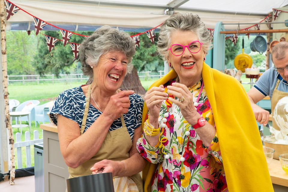 Prue Leith found her look-a-like in Maggie. (Channel 4)