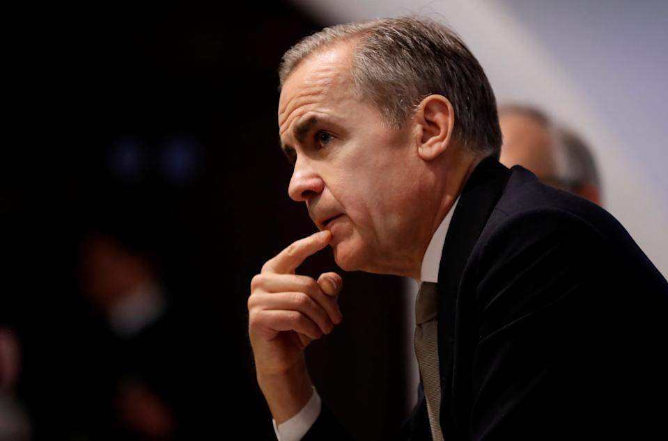 Mark Carney, Governor of the Bank of England listens at a Bank of England Financial Stability Report news conference in London, Britain December 16, 2019. Kirsty Wigglesworth/Pool via REUTERS