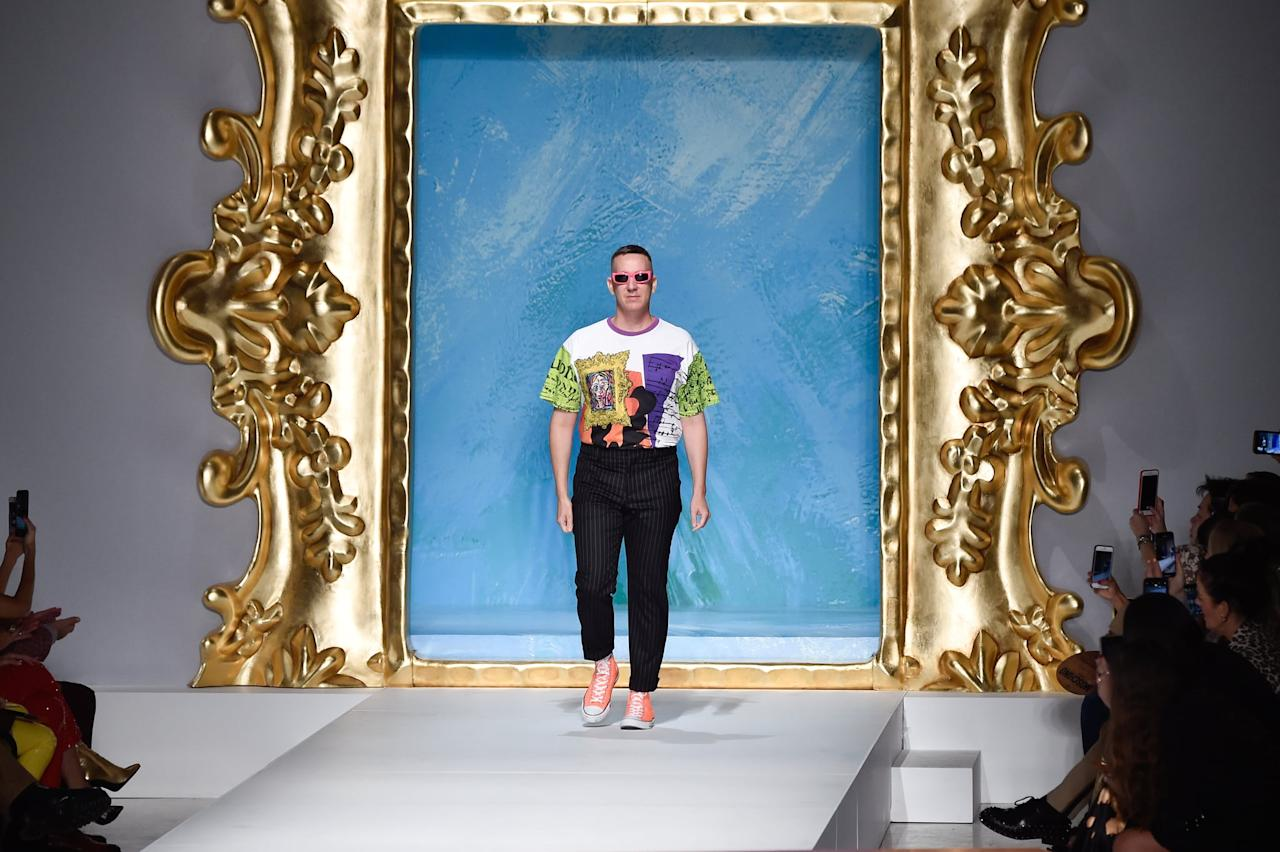 <p><small>Jeremy Scott on his runway at New York Fashion Week</small></p> <p><strong>Friday, Feb. 7</strong><br> 6 p.m. - Monse<br> 7 p.m. - Rag &amp; Bone<br> 8 p.m. - Jeremy Scott</p>