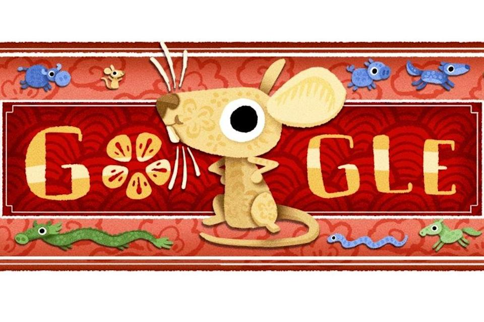 Google honours the Lunar New Year with a doodle: Google