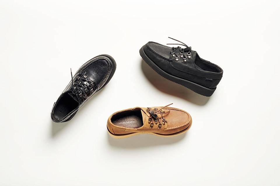 Selections from the Sebago x Engineered Garments collection. - Credit: Courtesy of Sebago
