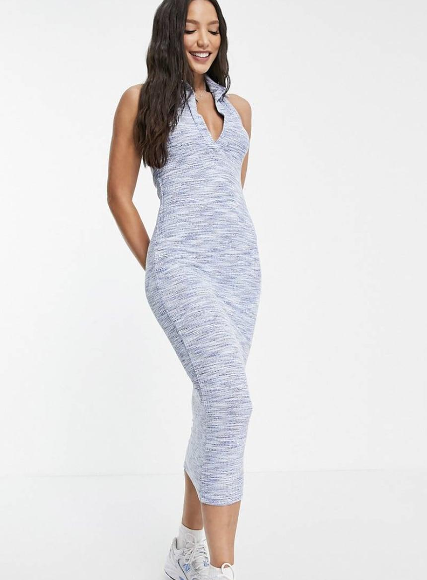 <p>This <span>ASOS Design Collared Halter Midi Dress</span> ($36) is retro inspired, but the silhouette is very clean and modern. It will look cool with sneakers and slide sandals alike.</p>