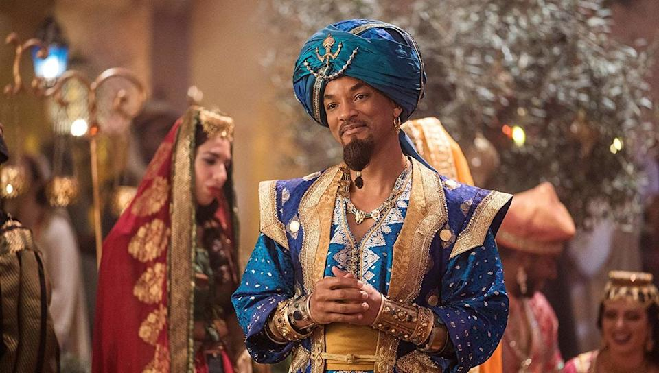 Will Smith as the Genie in Aladdin (Credit: Disney)