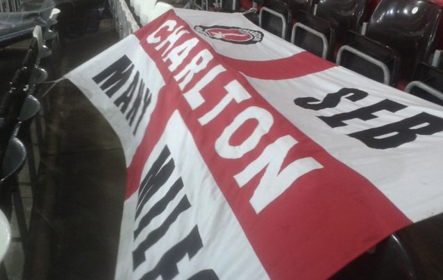Seb Lewis and his flag was an ever present at Charlton matches since 1998. He passed away after falling ill with coronavirus in March