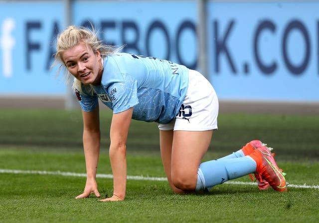 Manchester City's Lauren Hemp has been shortlisted for the PFA women's players' player and young player of the year awards