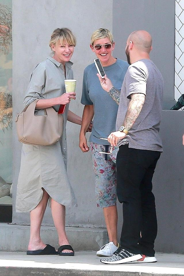 <p>If you ever have the chance to join Ellen and Portia for lunch, prepare to be amused. After all, <i>this</i> is how they look on a Tuesday lunch date. (Photo: BACKGRID USA) </p>