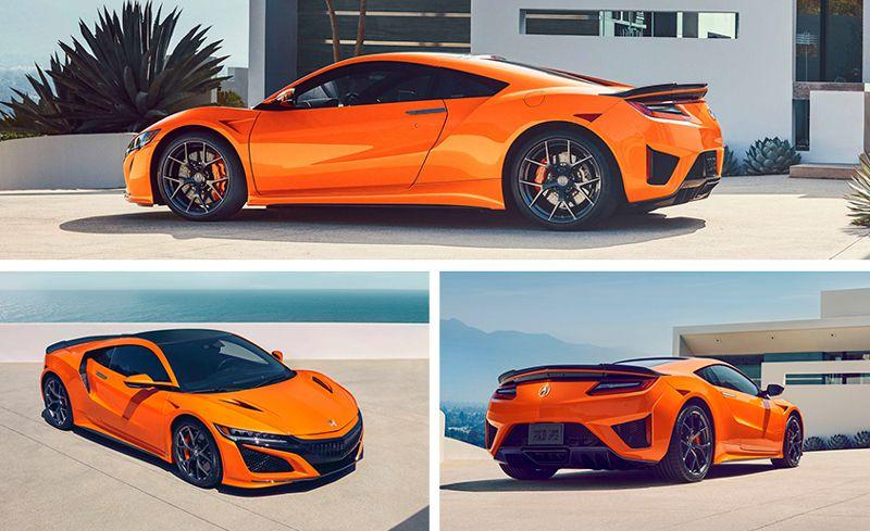 Photo credit: Car and Driver  2019 Acura NSX Gets a Nose Job, a Better Chassis, and More Orange 004aea5483129e6849aeda3c0d6ee346