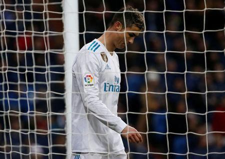 Soccer Football - La Liga Santander - Real Madrid vs Villarreal - Santiago Bernabeu, Madrid, Spain - January 13, 2018 Real Madrid's Cristiano Ronaldo reacts REUTERS/Javier Barbancho