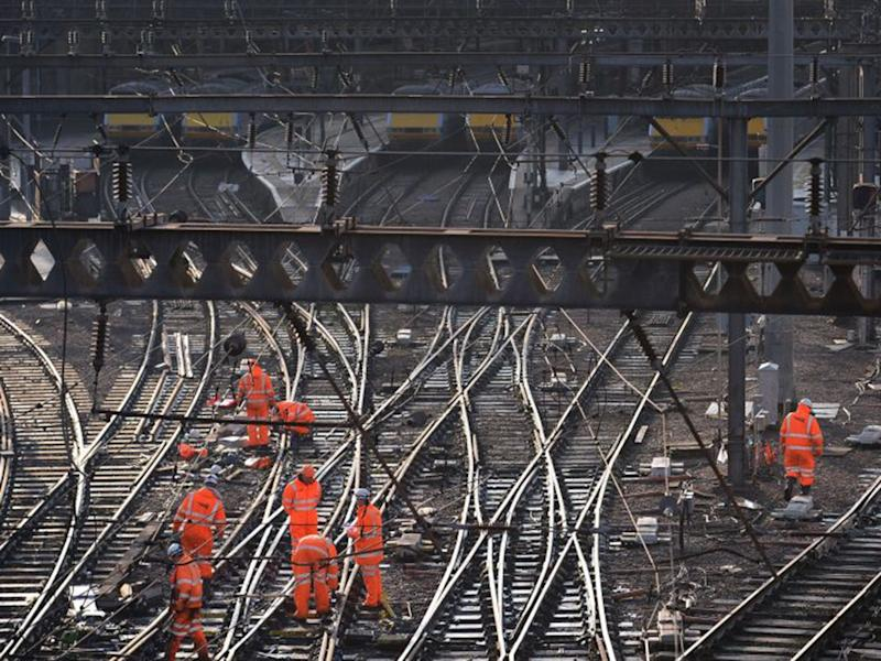Network Rail looks after 20,000 miles of track and has debts of close to £40bn: PA