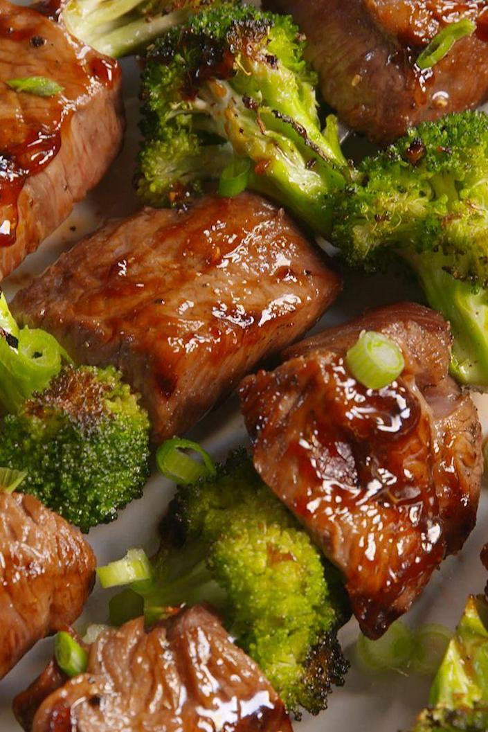 """<p>Love the classic Chinese combo? Take it to the flame.</p><p>Get the recipe from <a href=""""https://www.delish.com/cooking/recipes/a47945/beef-and-broccoli-kebabs-recipe/"""" rel=""""nofollow noopener"""" target=""""_blank"""" data-ylk=""""slk:Delish"""" class=""""link rapid-noclick-resp"""">Delish</a>.</p>"""