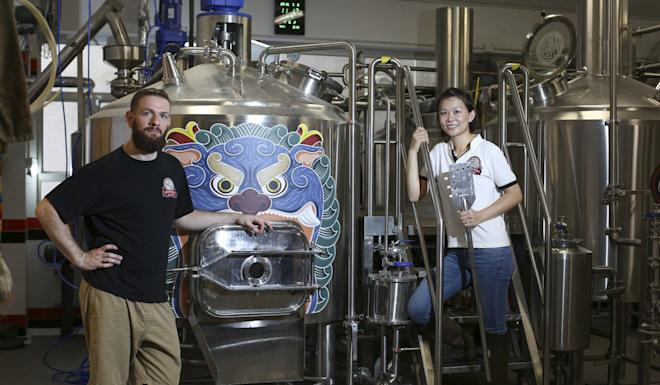 Laszlo and Michele Raphael founded the Moonzen Brewery in 2013. The brewery's biggest single market is Thailand, where they ship 15,000 litres every year. Photo: Nora Tam