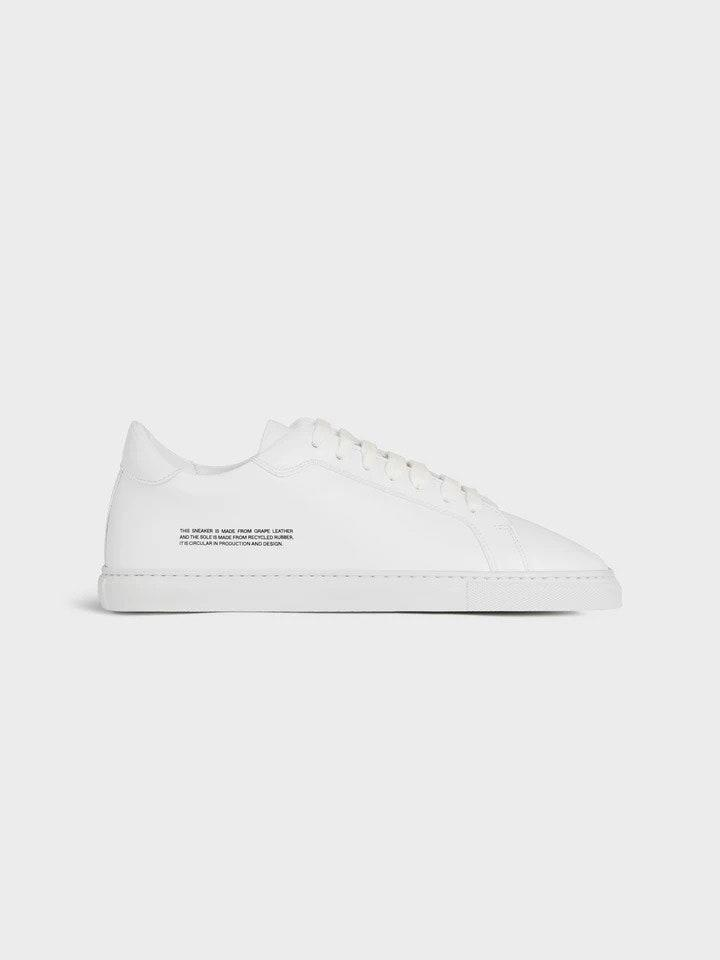"""$195, Pangaia. <a href=""""https://thepangaia.com/collections/footwear/products/womens-grape-leather-sneakers-white-1"""" rel=""""nofollow noopener"""" target=""""_blank"""" data-ylk=""""slk:Get it now!"""" class=""""link rapid-noclick-resp"""">Get it now!</a>"""
