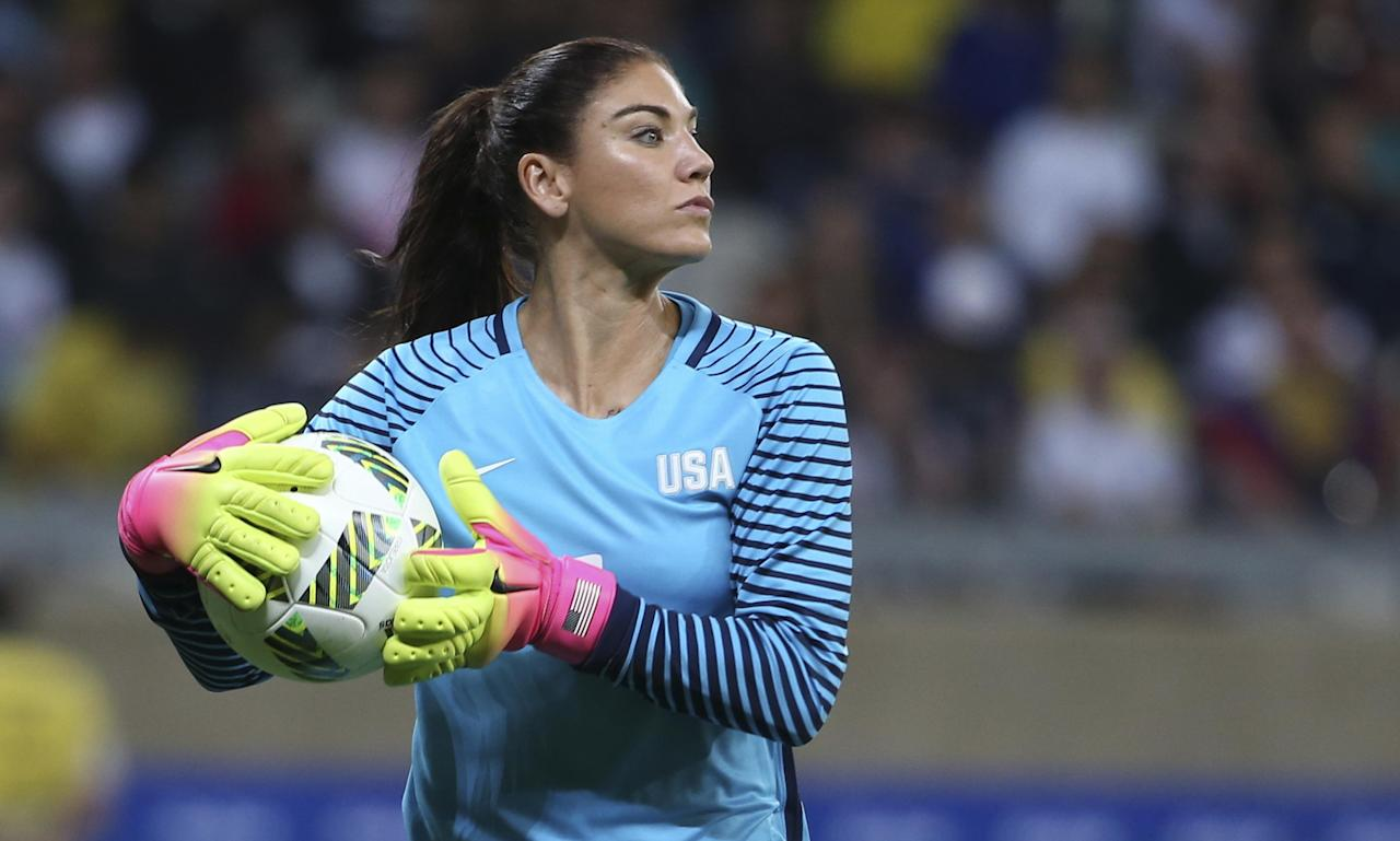 USA goalkeeper Hope Solo has not played a competitive match since the quarter-final at the Rio Olympics that led to her six-month suspension.