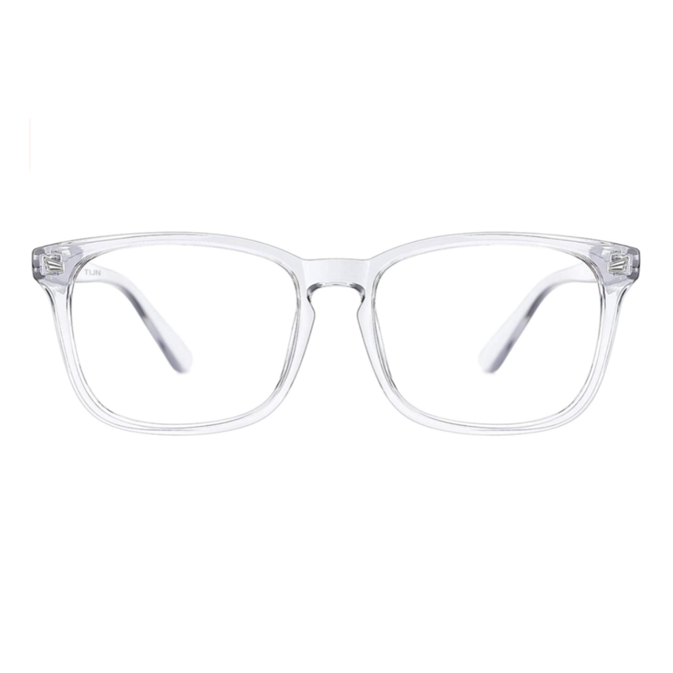 """Being on our computers 24/7 has led to an uptick in blue-light-blocking glasses to help with headaches. The good news? While regular prescription glasses can be on the pricier side, you can still protect your eyes from blue light for a steal. Amazon has a ton of cute frames to choose from—and of course, <a href=""""https://vm.tiktok.com/ZMRm66Wpd/"""" rel=""""nofollow noopener"""" target=""""_blank"""" data-ylk=""""slk:TikTok-ers"""" class=""""link rapid-noclick-resp"""">TikTok-ers</a> were quick to share them, including this $17 pair. $17, Amazon. <a href=""""https://www.amazon.com/TIJN-Blocking-Glasses-Eyeglasses-Computer/dp/B07G2CLMJN"""" rel=""""nofollow noopener"""" target=""""_blank"""" data-ylk=""""slk:Get it now!"""" class=""""link rapid-noclick-resp"""">Get it now!</a>"""