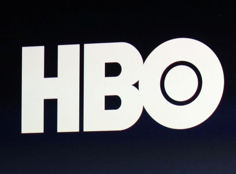 FILE PHOTO:  HBO logo is on display during an Apple event in San Francisco