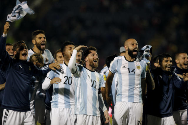 A helping hand: Argentina's players have been given some off-the-pitch advice