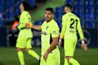 Luis Suarez and Atletico Madrid were held to a 0-0 draw at Getafe
