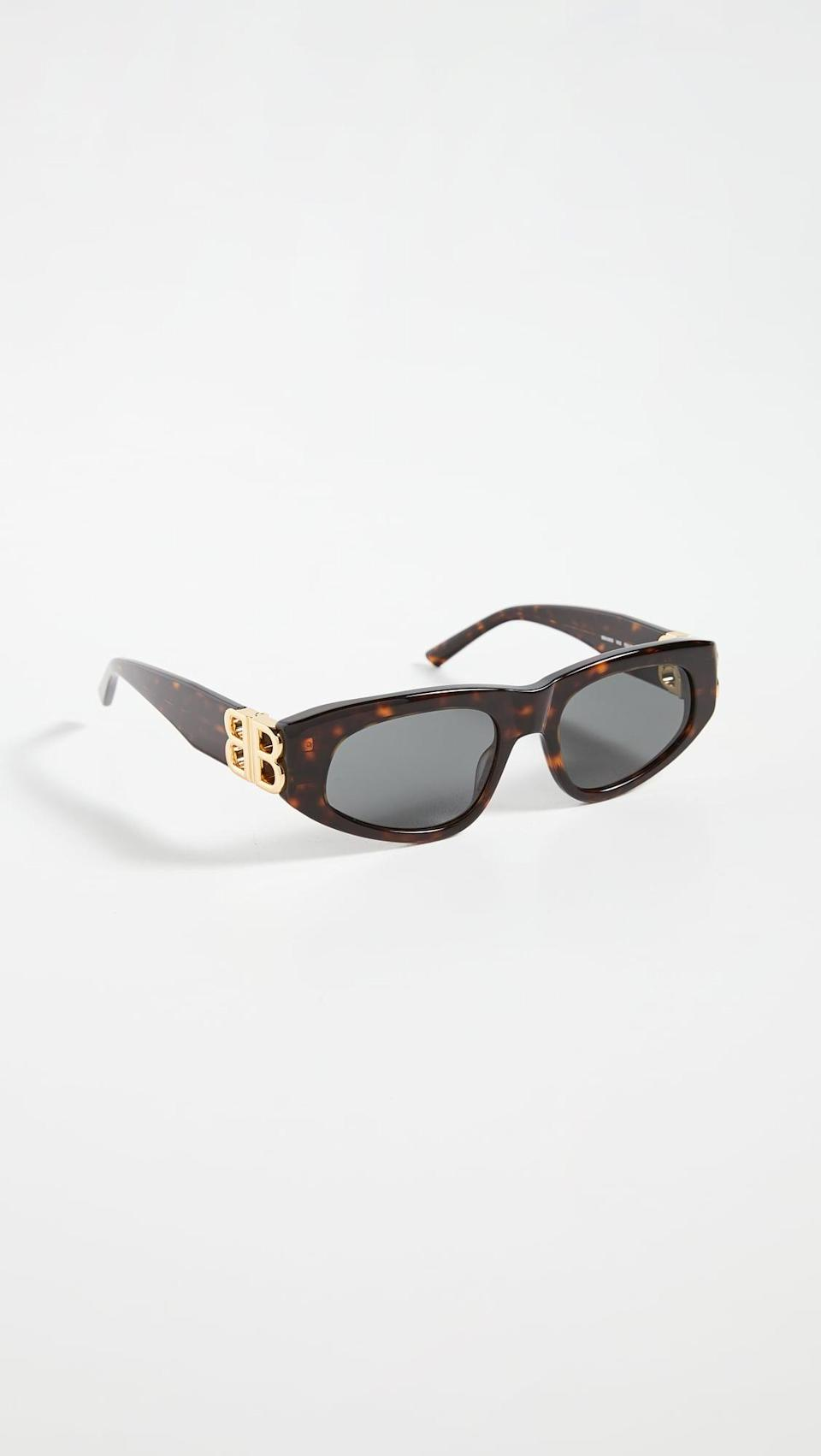 <p>These <span>Balenciaga Dynasty Vintage Inspired Oval Sunglasses</span> ($450) are a chic find.</p>