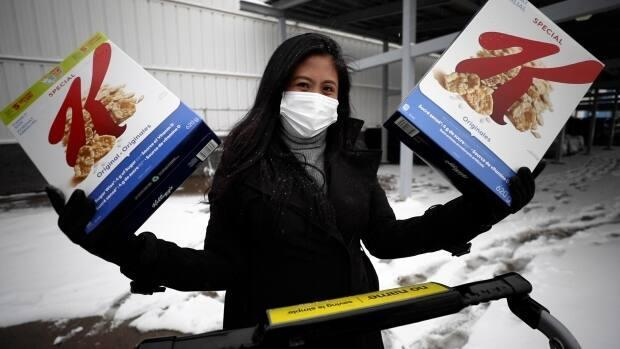 Raiza Ocampo started learning about extreme couponing in 2018, and started a blog to share her findings.  (Matt Howard/CBC - image credit)