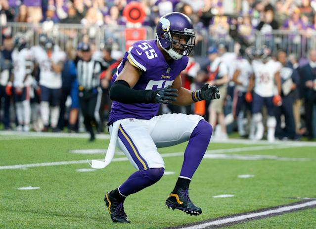 Minnesota Vikings outside linebacker Anthony Barr said he would join the Jets, but changed his mind. (AP)