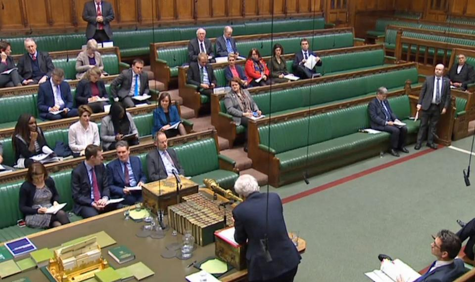 """Brexit Secretary David Davis speaks in the House of Commons, London, where he sidestepped calls to ensure the Government does not undermine a decision by MPs to give Parliament a """"meaningful vote"""" on the withdrawal deal."""