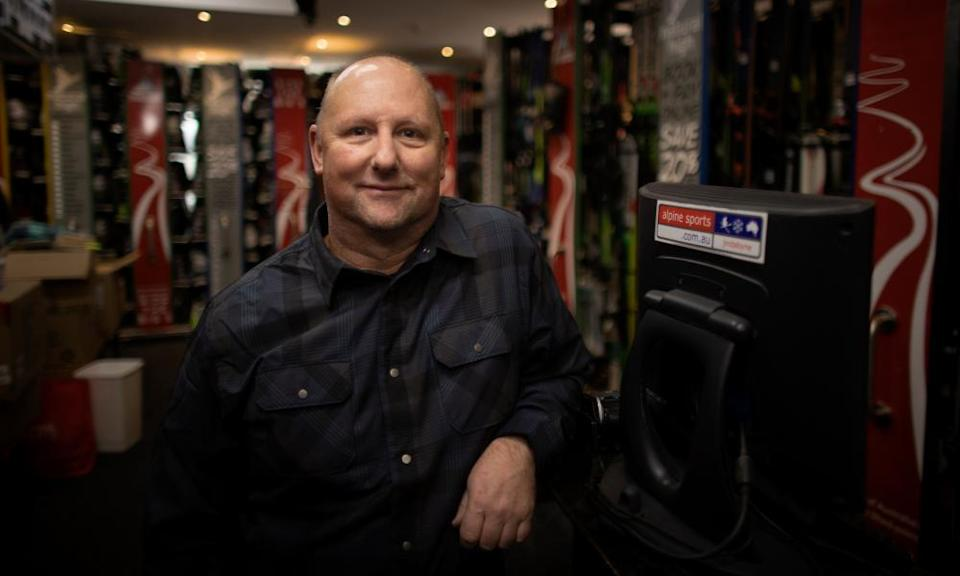The owner of Alpine Sports in Jindabyne Cameron Barton