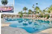 """<p><b>Montecito, California</b></p> <p>Are we in Capri? This might be the question you ponder as you slip onto the polished wicker seats of a pale pink """"Jolly,"""" one of the three petite open-air vehicles with striped canopy roofs that shuttle guests among the 161 guest rooms of the Manor House, Lanai House, Beach House, and bungalows that compose the long-awaited new resort on the golden sands of <a href=""""https://www.coastalliving.com/travel/california/santa-barbara-travel-guide"""" rel=""""nofollow noopener"""" target=""""_blank"""" data-ylk=""""slk:Santa Barbara"""" class=""""link rapid-noclick-resp"""">Santa Barbara</a>'s exclusive enclave of Montecito. And indeed, the charming little conveyances (not to mention the butterfly chair–lined deck overlooking the sparkling Pacific) evoke a sophisticated Italian coastal sensibility. But under the guidance of owner Rick Caruso, there are intoxicating Southern California touches at work here, as well, including a serpentine-sided Cabana Pool that honors the work of renowned midcentury California architect Paul Williams. Imaginative indulgences, including an evening cocktail cart service at the Beach House, might even shift the question from Are we in Capri? to Are we in heaven? Rates start at $800; <a href=""""https://www.rosewoodhotels.com/en/miramar-beach-montecito"""" rel=""""nofollow noopener"""" target=""""_blank"""" data-ylk=""""slk:rosewoodmiramarbeach.com"""" class=""""link rapid-noclick-resp"""">rosewoodmiramarbeach.com</a>.</p>"""