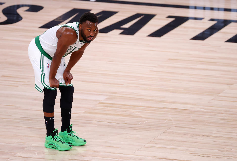 All-Star point guard Kemba Walker will be shelved for the start of the 2020-21 NBA season. (Kevin C. Cox/Getty Images)
