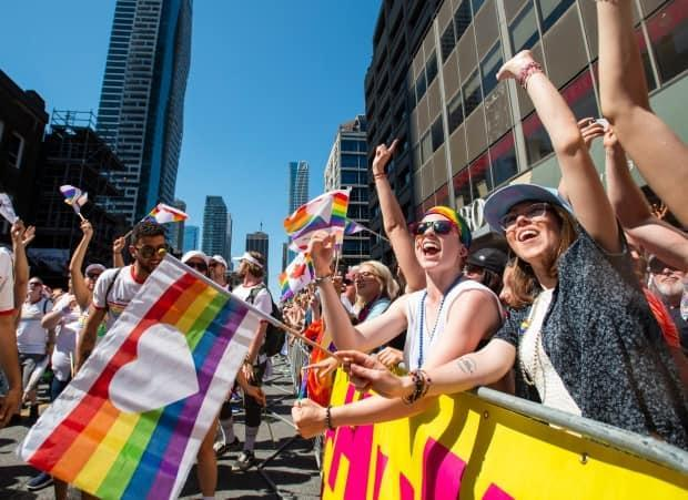 The last Pride parade in Toronto was on June 23, 2019, before the pandemic. The LGTBQ community is now feeling the impact of social isolation and a dwindling number of spaces that feel truly safe. (Andrew Lahodynskyj/The Canadian Press - image credit)