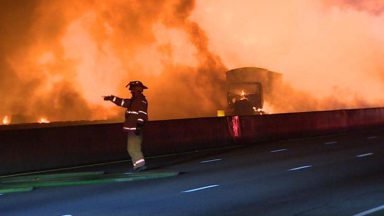 Fully loaded tanker trucks that exploded in Highway 400 pileup were 'bombs on wheels,' police say