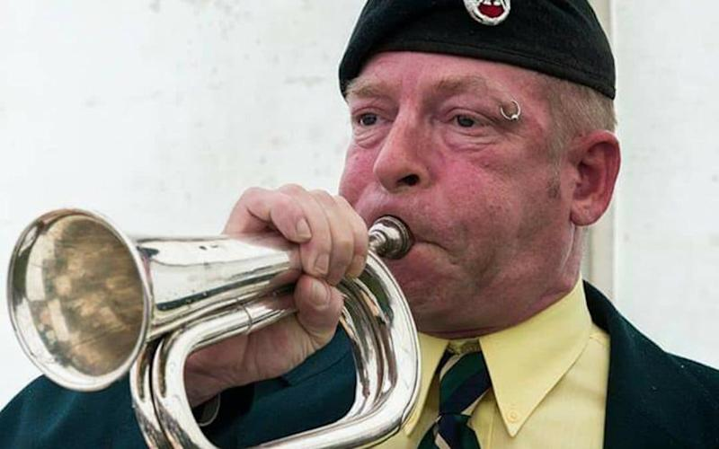 Paul Goose plays The Last Post at 8pm every evening