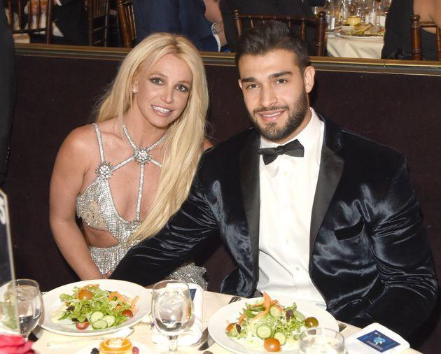 Britney Spears and Sam Asghari at the GLAAD Media Awards in 2018 (Photo: J. Merritt via Getty Images)