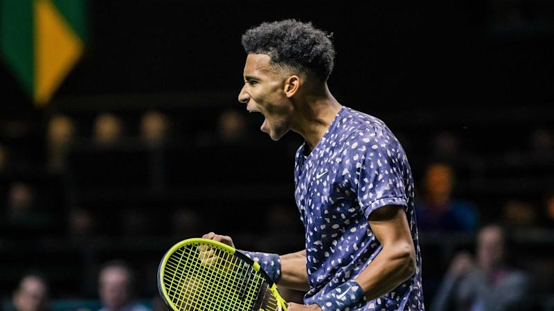 Felix Auger-Aliassime hails his win over Jan-Lennard Struff to reach round two in Rotterdam