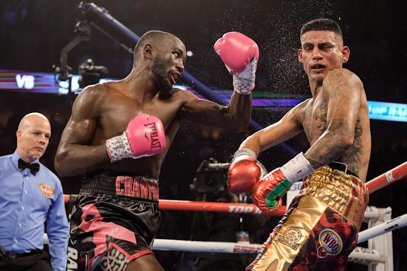 Crawford defended his title with a TKO win over Jose Benavidez last year. (Getty Images)