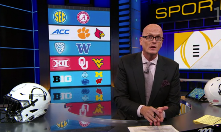 Scott Van Pelt talks about the College Football Playoff.