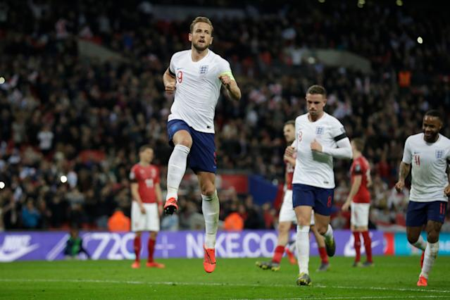 Harry Kane (9) and England are arguably the deepest country in world soccer at the moment. (AP)