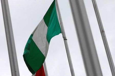 A Nigerian flag is seen outside Nigeria Trade Office after Nigerian request to Taiwan to relocate its representative office in the African country, in Taipei