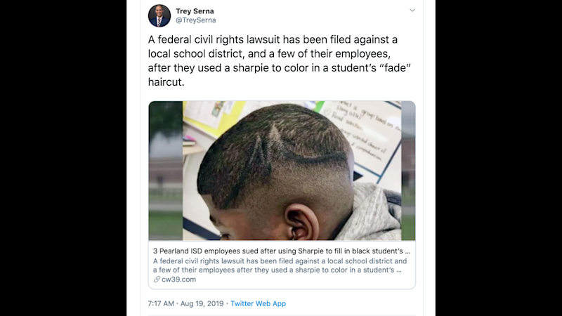 School workers who used Sharpie to color in black teen's hair in Texas are being sued
