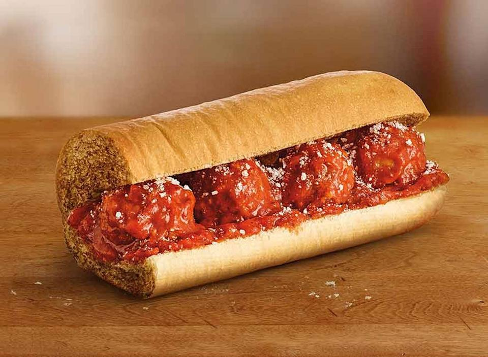 Subway meatball marinara sub