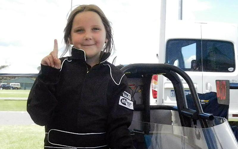 Anita Board, 8, died at a drag racing event in Australia  - AFP
