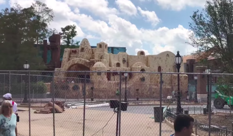 Due to the hurricane, Disney World has removed some construction walls —which means we can see Star Wars Land