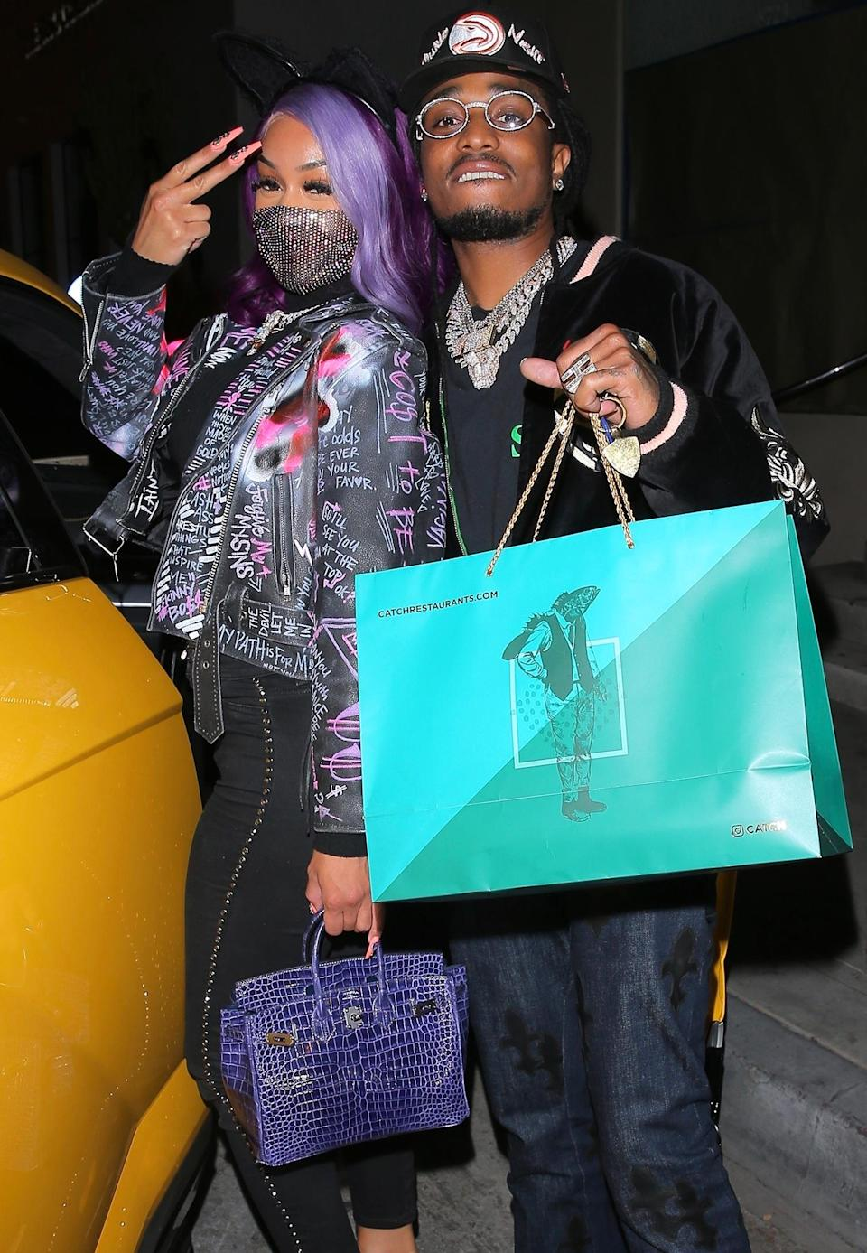 <p>Quavo and Saweetie enjoyed a late night romantic dinner at Catch in West Hollywood.</p>